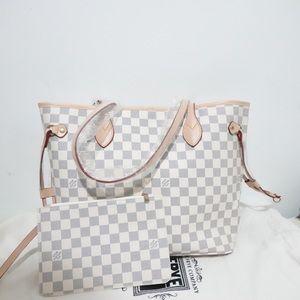 Louis Vuitton NeverFull MM White